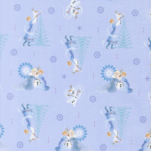 Disney Olaf's Frozen Adventure - Family Tradition in Blue Yardage