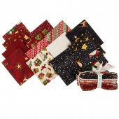 Santa's Big Night Fat Quarter Crystals