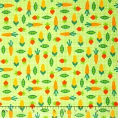 Funny Farm - Veggies Green Yardage