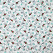 Aunt Grace - Buttons Teal Yardage