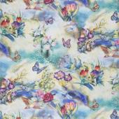 Morningmoon Fairies - Butterflies Garden Digitally Printed  Yardage