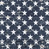 American Pride - Patriotic Stars Navy Yardage