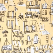 An American in Paris - A Turner Classic Movie Parisian Streets Yellow Yardage