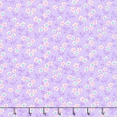 Nana Mae IV - Multicolored Daisy Purple Yardage