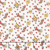 Storybook Sleepytime - Toys Red Yardage