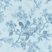 Something Blue - Bouquet Light Blue Yardage