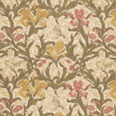 May Morris Studio - Iris 1887 Cream Yardage