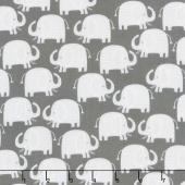 Wild About You - Elephants Charcoal Yardage