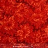 Flowers of the Sun - Sunflower Shapes Dark Rust  Yardage