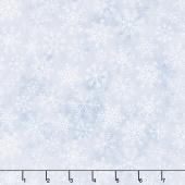 Northern Solitude - Snowflakes on Blue Yardage