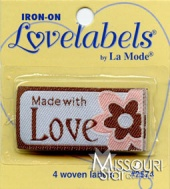 Made With Love Iron-On Lovelabels