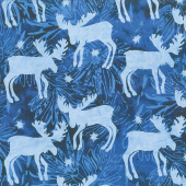 Winter Frost Batiks - Moose Ocean Yardage