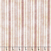 The Little Things - Stitched Ticking Natural/Red Yardage