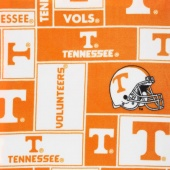 Fleece College - Tennessee Volunteers Orange Yardage