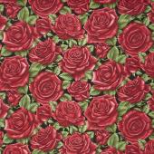 A Festival of Roses - Festive Roses Black Yardage