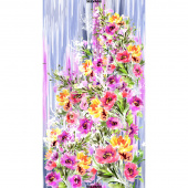 Blossom - Watercolor Bouquet Multi Digitally Printed Panel