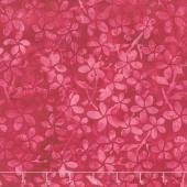 Punch Batiks - Plumeria Raspberry Yardage