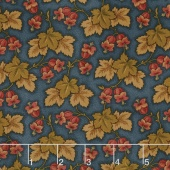 Sycamore - Leaf Cluster Teal Yardage