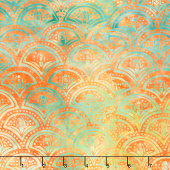 Peacock Galore Batiks - Clamshell Citrine Yardage