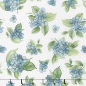 Watercolor Hydrangeas - Hydrangea Posy Blue Yardage