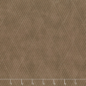 Mill Creek Garden - Diamond Stitches Earth Brown Yardage