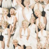 Marilyn Monroe by The Estate of Marilyn Monroe - Portraits White Digitally Printed Yardage