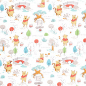 Disney - Pooh Everyday Pooh's House White Multi Yardage