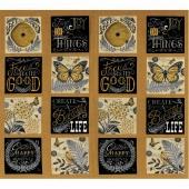 Bee Inspired - Nature Blocks Honey Yellow Panel
