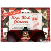 Sew Red Clip On Lenses