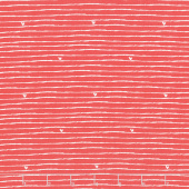 From the Heart - Stripe Red Yardage