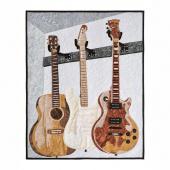 Man Sewing Unstrung Heroes Guitar Kit