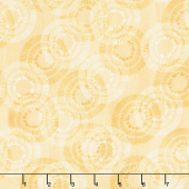Sing Your Song - Circles and Dots Yellow Yardage