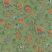 Prairie Dreams - Prairie Flowers Green Yardage