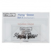 "Bloc Loc Flying Geese Combo Set #3 (includes 2""x4"" and 3""x6"" rulers)"