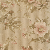 Collection for a Cause - Heritage 10th Anniversary Birds & Flowers Tan Yardage