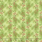 Naughty or Nice - Pine Bough Winter Mint Yardage