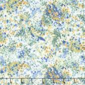 Garden Delights - Impressionist Blue Yardage