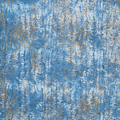 Artisan Batiks - Twilight Snowfall Pine Trees Meadow Metallic Yardage