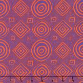 Kaffe Fassett Collective Spring 2018 - Bright Good Vibrations Purple Yardage