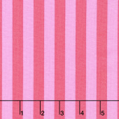 Tula Pink's All Stars - Pom Poms & Stripes Tent Stripe Poppy Yardage