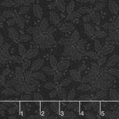 Let It Sparkle - Holiday Lace Black Yardage