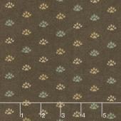 Return to Cub Lake - Bear Paw Dark Brown Flannel Yardage