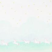 Magic - Unicorn Parade Mint Minky Yardage