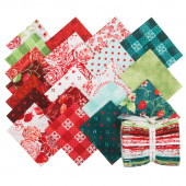 Sugar Berry with Red Glitter Fat Quarter Bundle