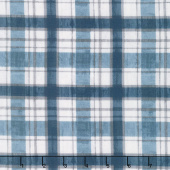 A Day at the Lake - Plaid Blue Yardage