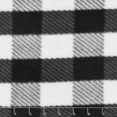 Fleece Plaids & Checks - Gingham Plaid Black Yardage