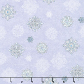 Arctic Wonderland - Snowflake Toss Light Gray Yardage