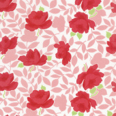 Little Snippets - Vintage Rose Coral Yardage