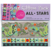 Tula Pink All Stars Grey Raccoons Designer Ribbon Pack