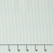 Sugar Pie - Herringbone White on Teal Yardage